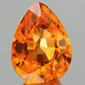 Genuine ORANGE SAPPHIRE .86ct 6.8 x 5.2 x 3.1mm Pear