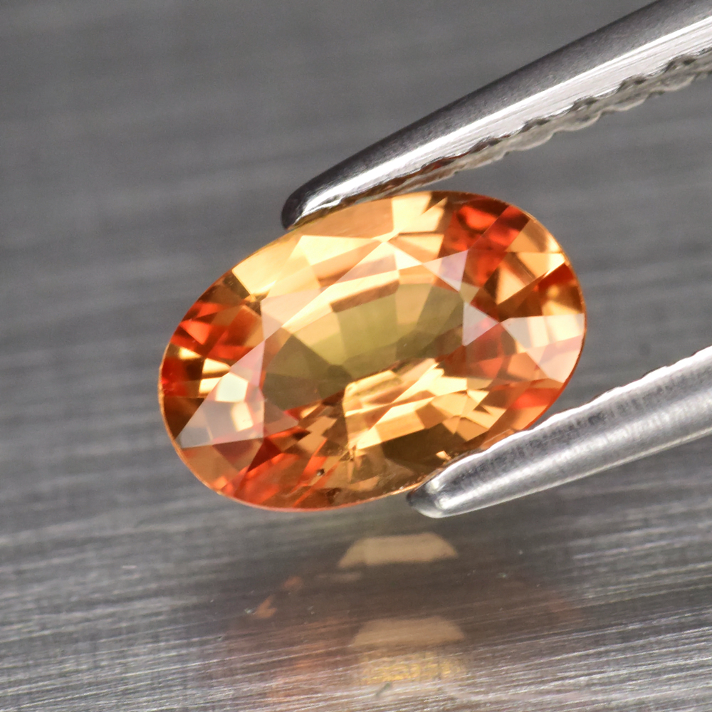 Genuine Orange Sapphire .85ct 7.0 x 4.8mm Oval VS Clarity