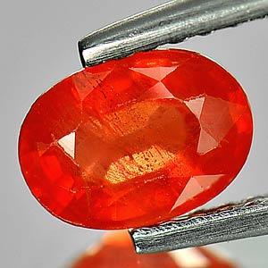 Genuine Orange Sapphire 1.01ct 6.9 x 5.0mm Oval SI Clarity