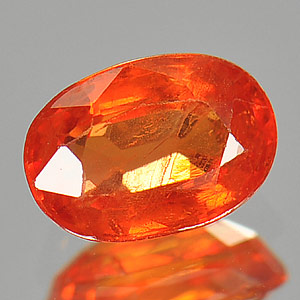 Genuine Orange Sapphire 1.05ct 6.9 x 4.8mm Oval VS1 Clarity