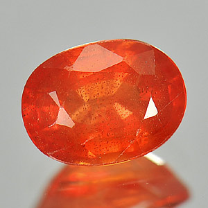 Genuine Orange Sapphire 1.09ct 6.7 x 5.0mm Oval VS1 Clarity