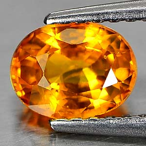 Genuine Orange Sapphire 1.12ct 6.6 x 5.1mm Oval SI1 Clarity