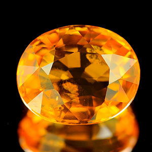 Genuine Orange Sapphire 1.21ct 6.9 x 5.7 x 3.2mm Tanzania SI
