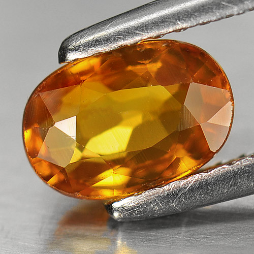 Genuine Orange Sapphire 1.34ct 7.5 x 5.2mm Oval VS1 Clarity