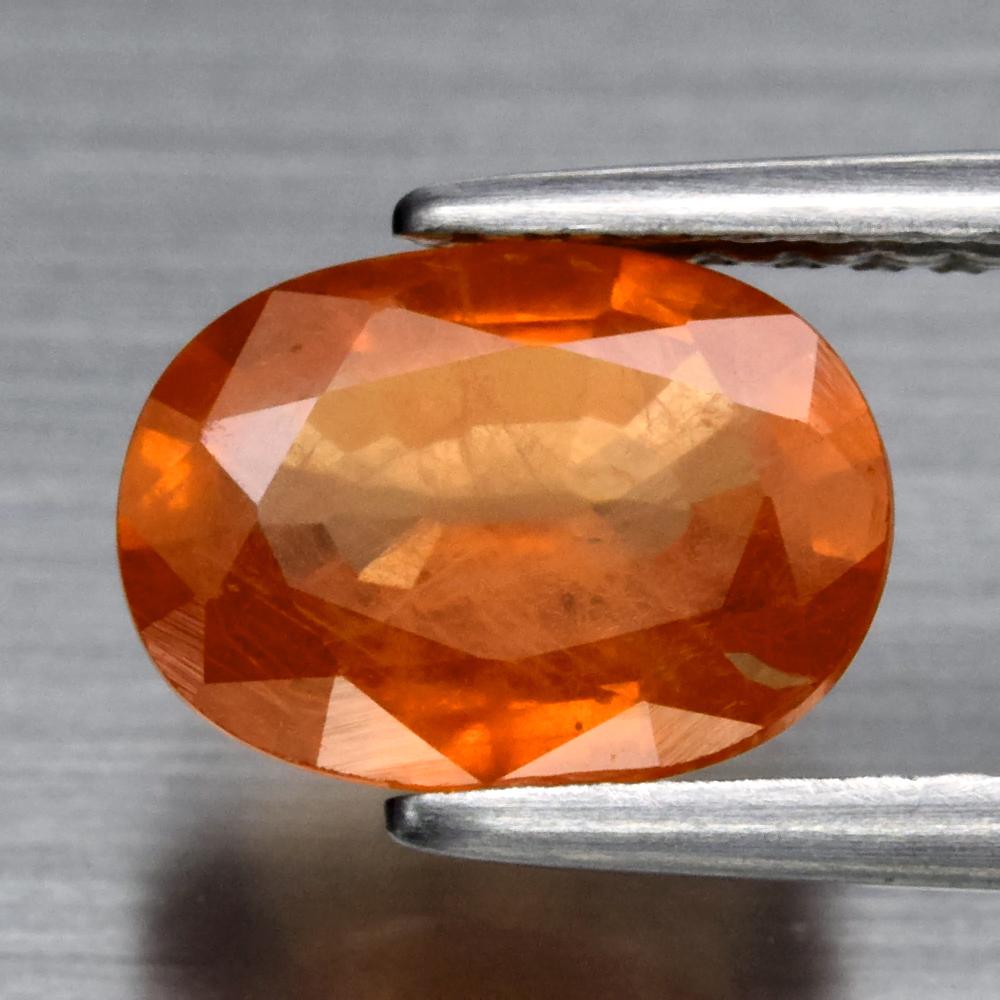 Genuine Orange Sapphire 1.43ct 8.2 x 6.0mm Oval SI1 Clarity