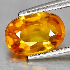 Genuine Orange Sapphire 1.44ct 8.1 x 5.5mm Oval VS1 Clarity