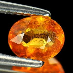 Genuine Orange Sapphire 1.57ct 7.4 x 5.9mm Oval SI Clarity