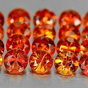 Genuine Orange Sapphires 2.00ctsct (20) 2.7x2.7x2.0 VS1 Clarity