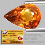 Genuine Whiskey Orange Sapphire 2.58ct 10.1x6.9x4.8mm VS1 Thailand (Certified)