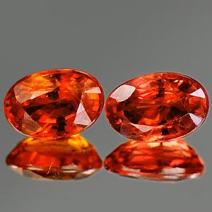 Genuine Orange Sapphire .57ct 6.5 x 4.4mm Oval VVS Clarity