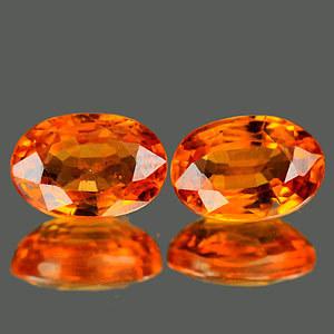 Genuine Orange Sapphire .52ct 5.8 x 4.1mm Oval VS1 Clarity