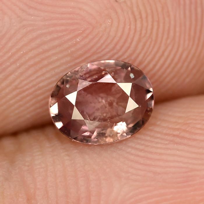 Genuine Padparadsha Sapphire 1.04ct 7.3x5.8x2.7mm SI1 Madagascar