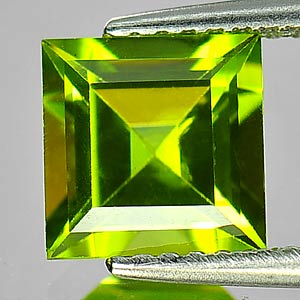 Genuine 100% Natural Peridot 1.52ct 6.8 x 6.8mm Square VS1 Clarity