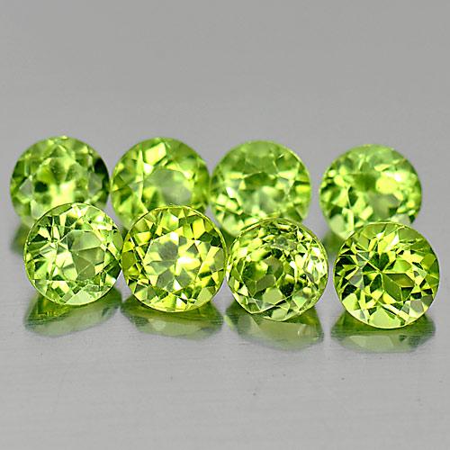 Genuine 100% Natural Peridot 0.28ct 4.0x4.0x2.6mm VS1 Pakistan