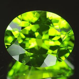 Genuine 100% Natural Peridot 3.65ct 10.9 x 8.8 x 5.6mm Peridot VVS
