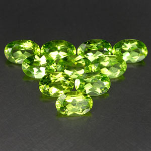 Genuine 100% Natural Peridot .46ct 6.0 x 4.0mm Oval VS1 Clarity