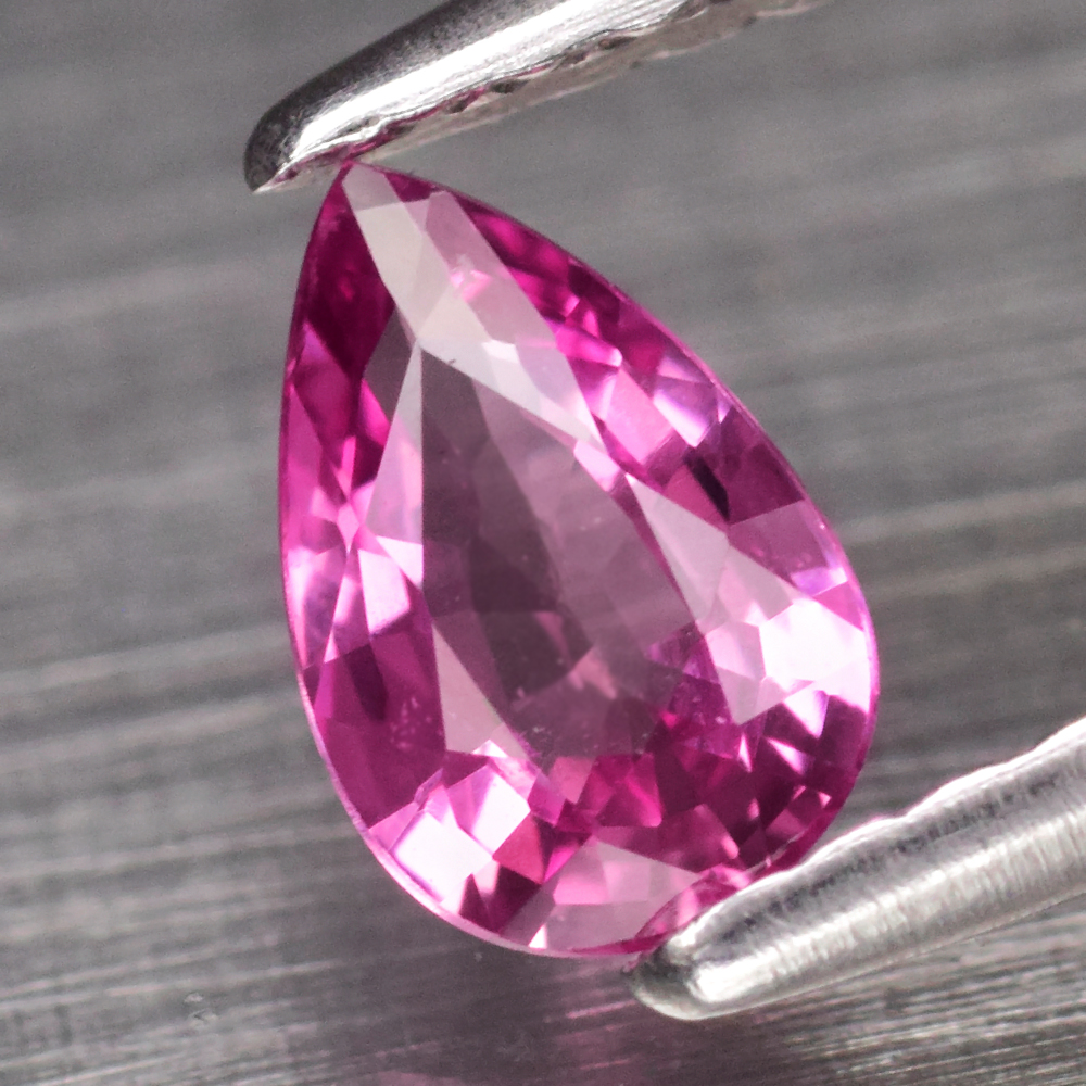 Genuine Pink Sapphire .43ct 6.0 x 4.0mm Pear VS Clarity