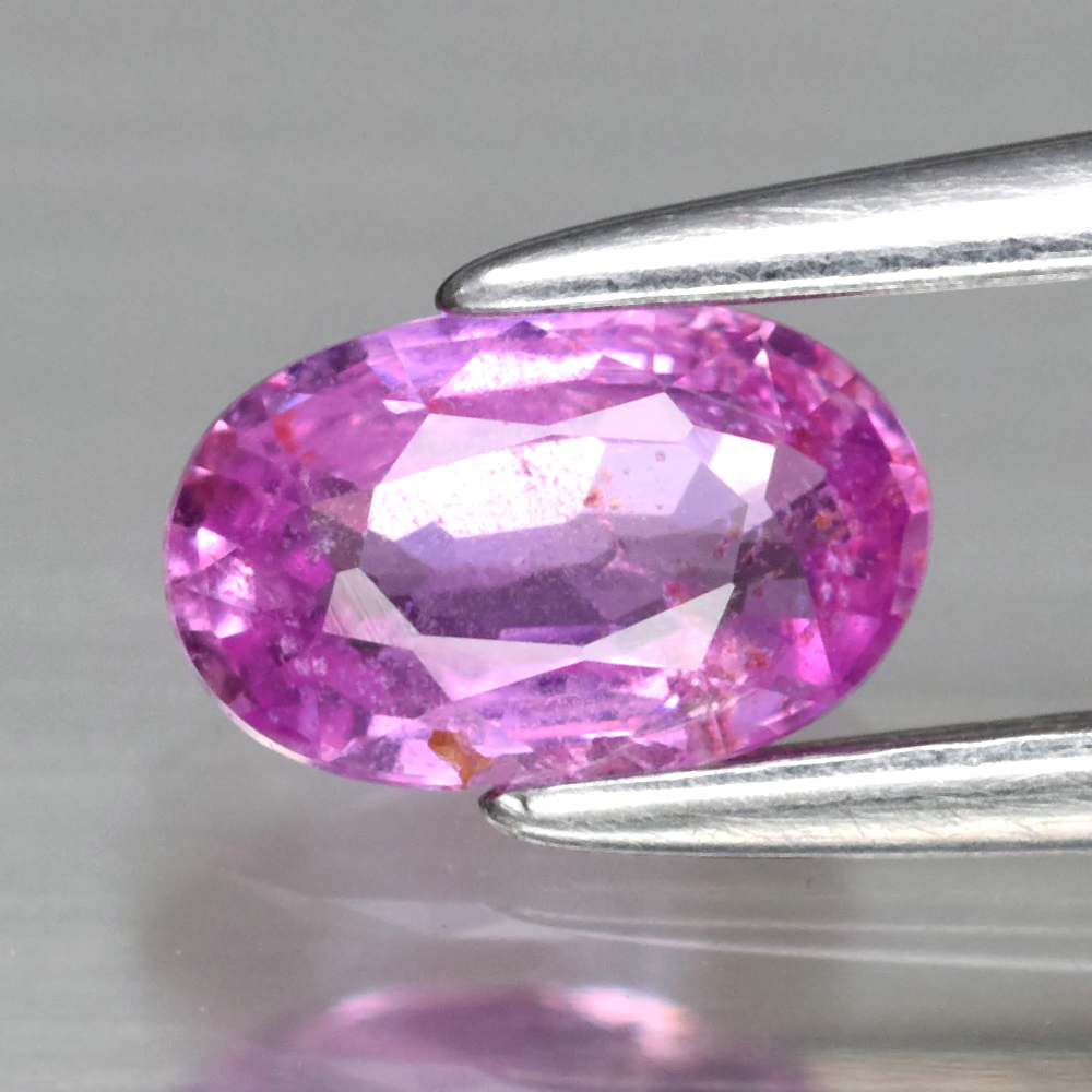 Genuine 100% Natural Pink Sapphire .53ct 6.0 x 3.7mm Oval I1 Clarity