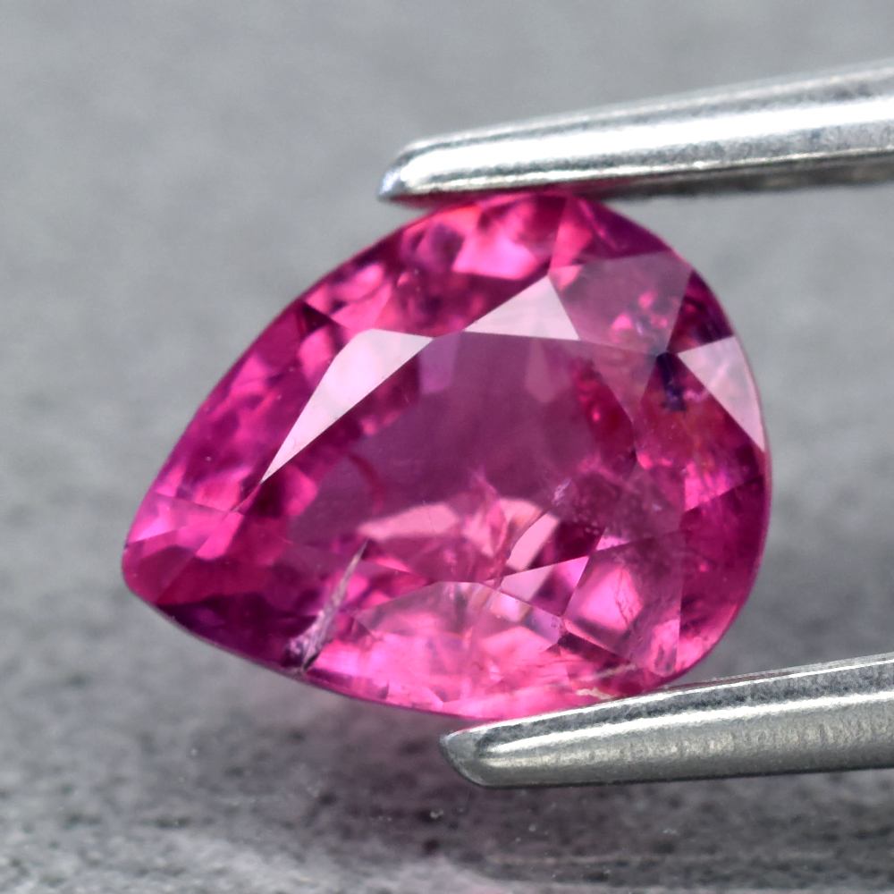 Genuine 100% Natural Pink Sapphire .67ct 6.0 x 4.7mm Pear SI2 Clarity