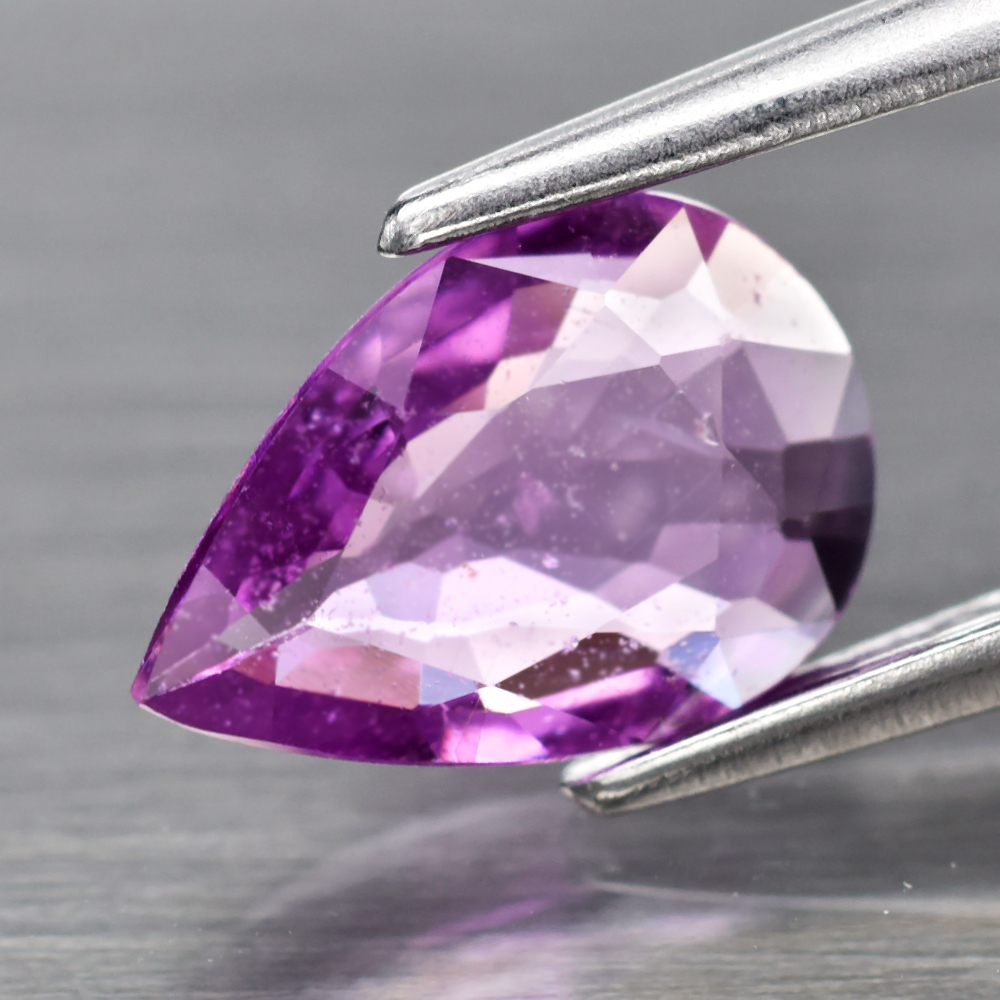 Genuine 100% Natural Pink Sapphire .76ct 8.0 x 5.5mm Pear SI1 Clarity