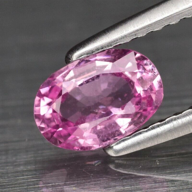 Genuine Pink Sapphire .76ct 6.4 x 4.4mm Oval SI1 Clarity Ceylon