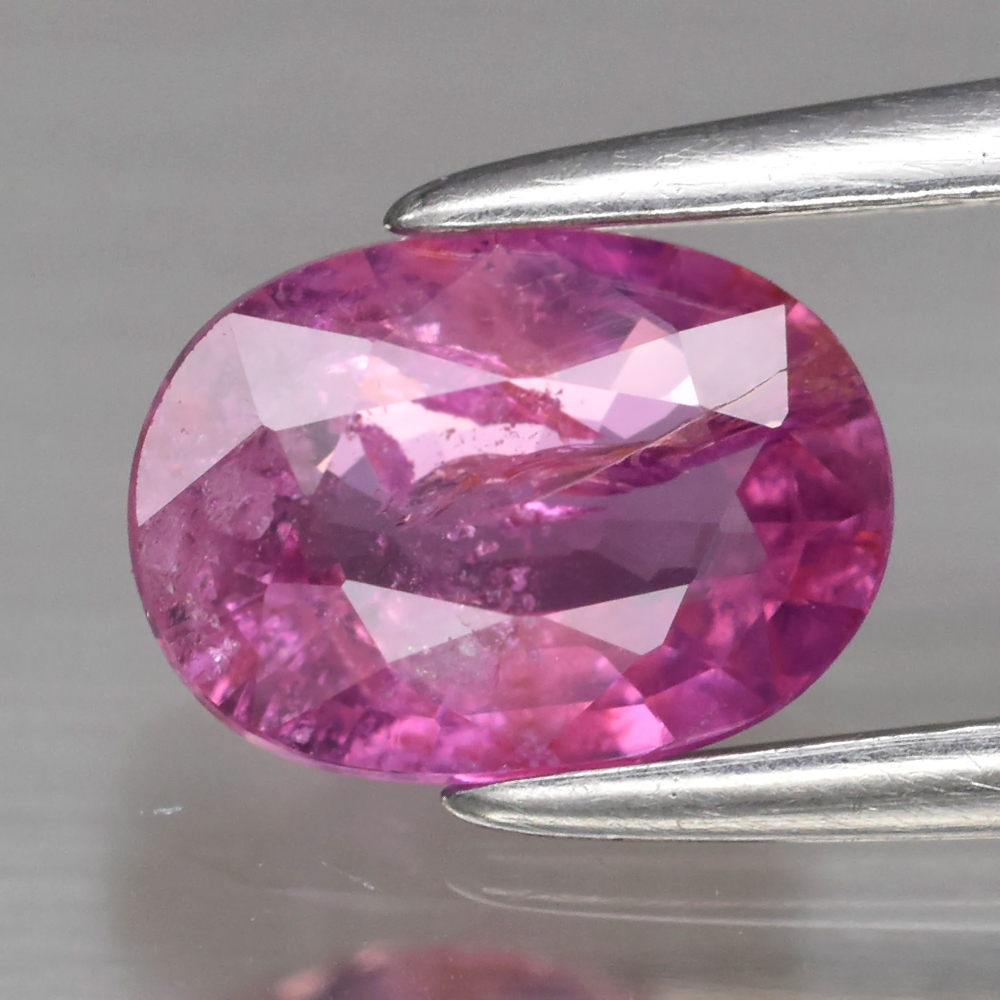 Genuine 100% Natural Pink Sapphire .92ct 7.0 x 5.0mm Oval SI1 Clarity