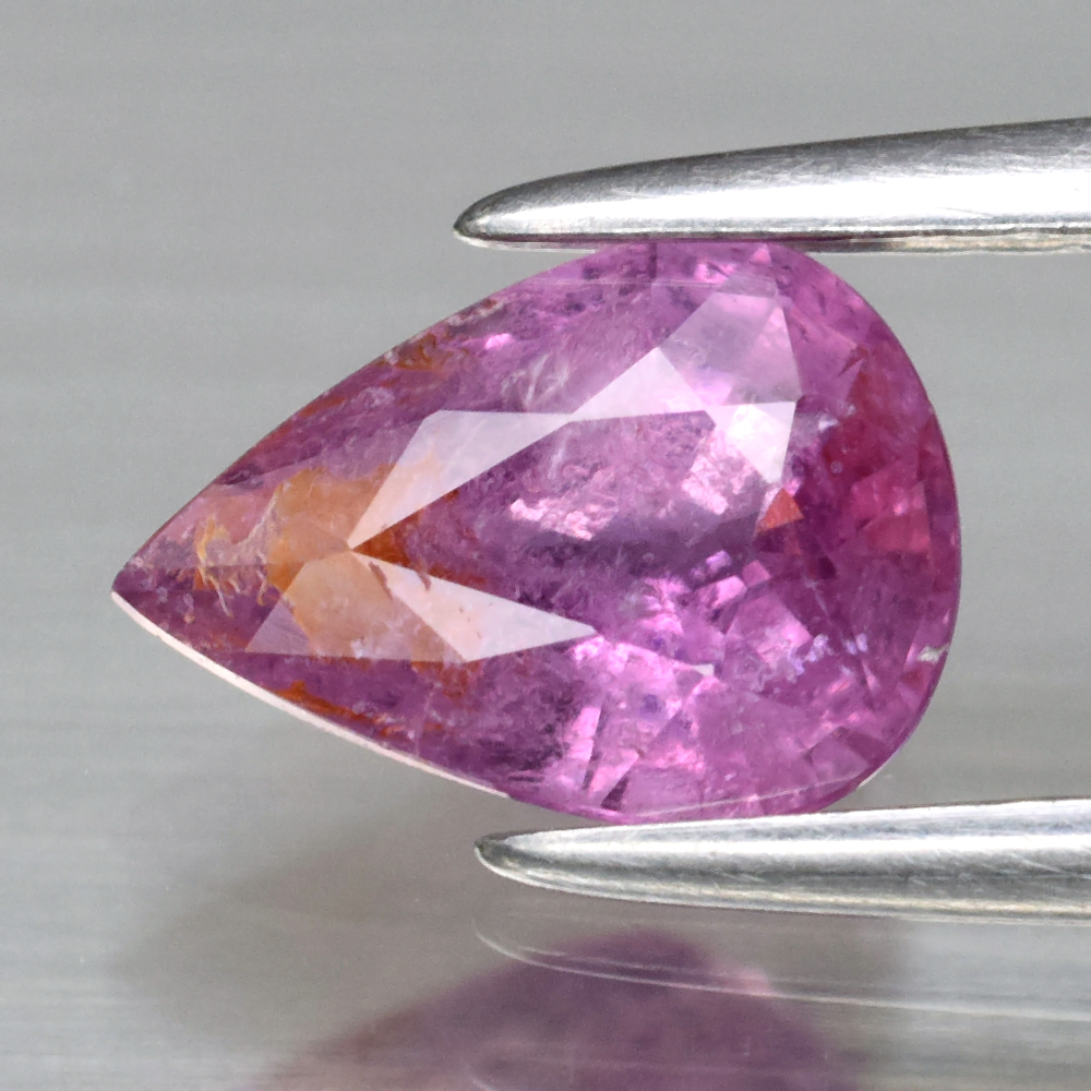 Genuine 100% Natural Pink Sapphire .93ct 7.5 x 5.3mm Pear I1 Clarity
