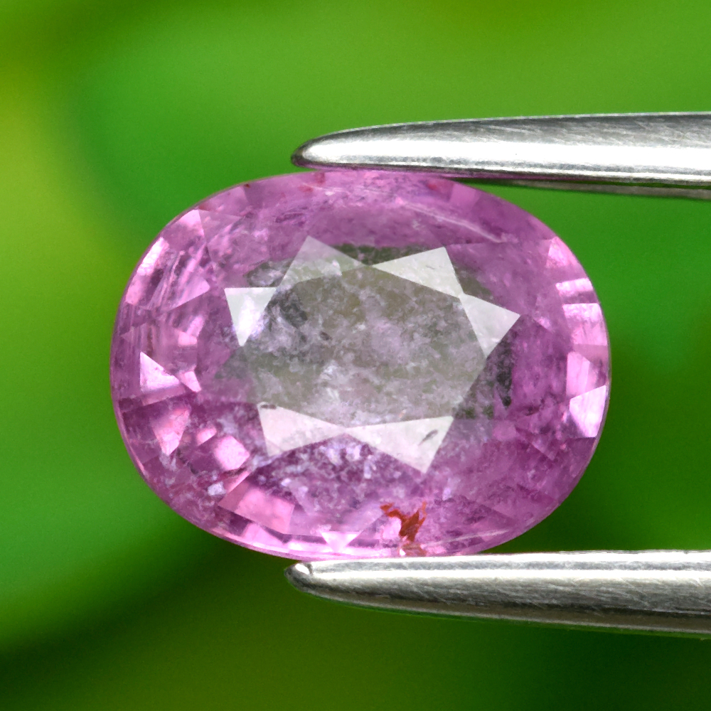Genuine 100% Natural Pink Sapphire 1.07ct 6.8 x 5.4mm Oval SI2 Clarity