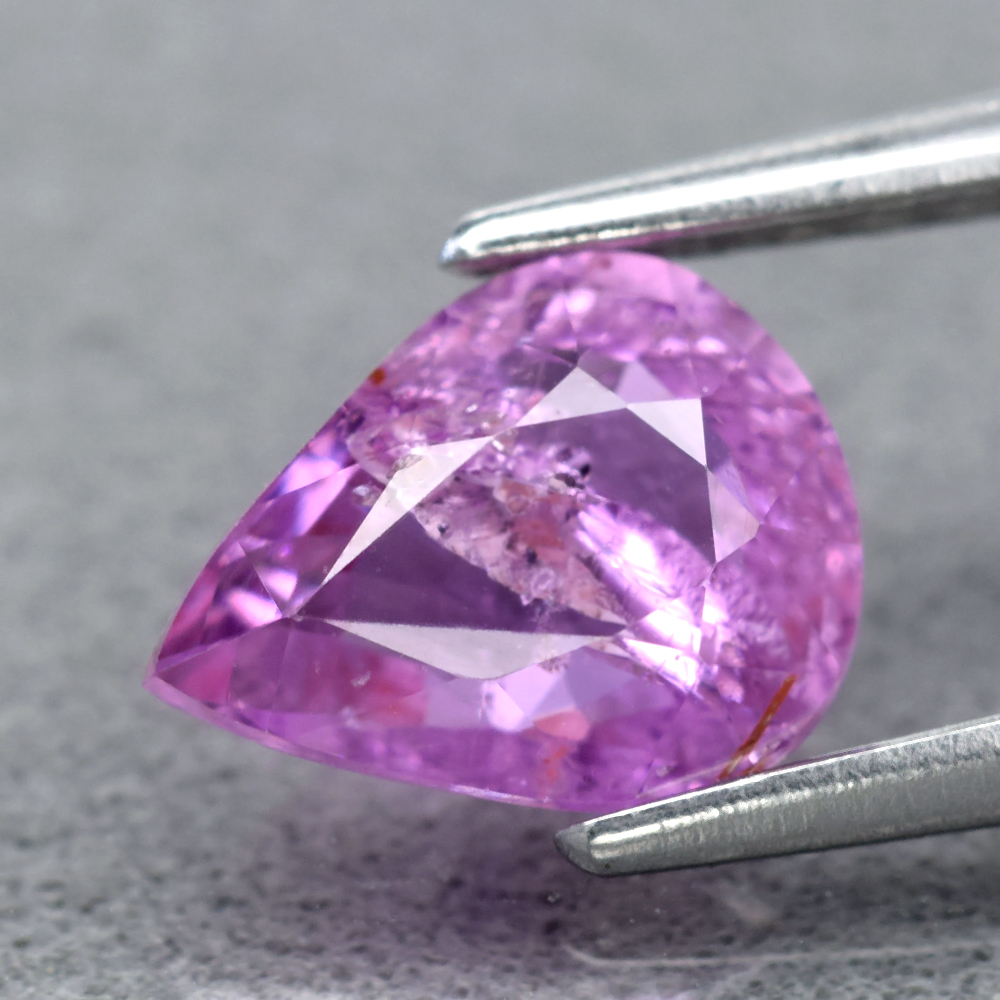 Genuine 100% Natural Purple Sapphire 1.09ct 7.2 x 5.5mm Pear SI2 Clarity