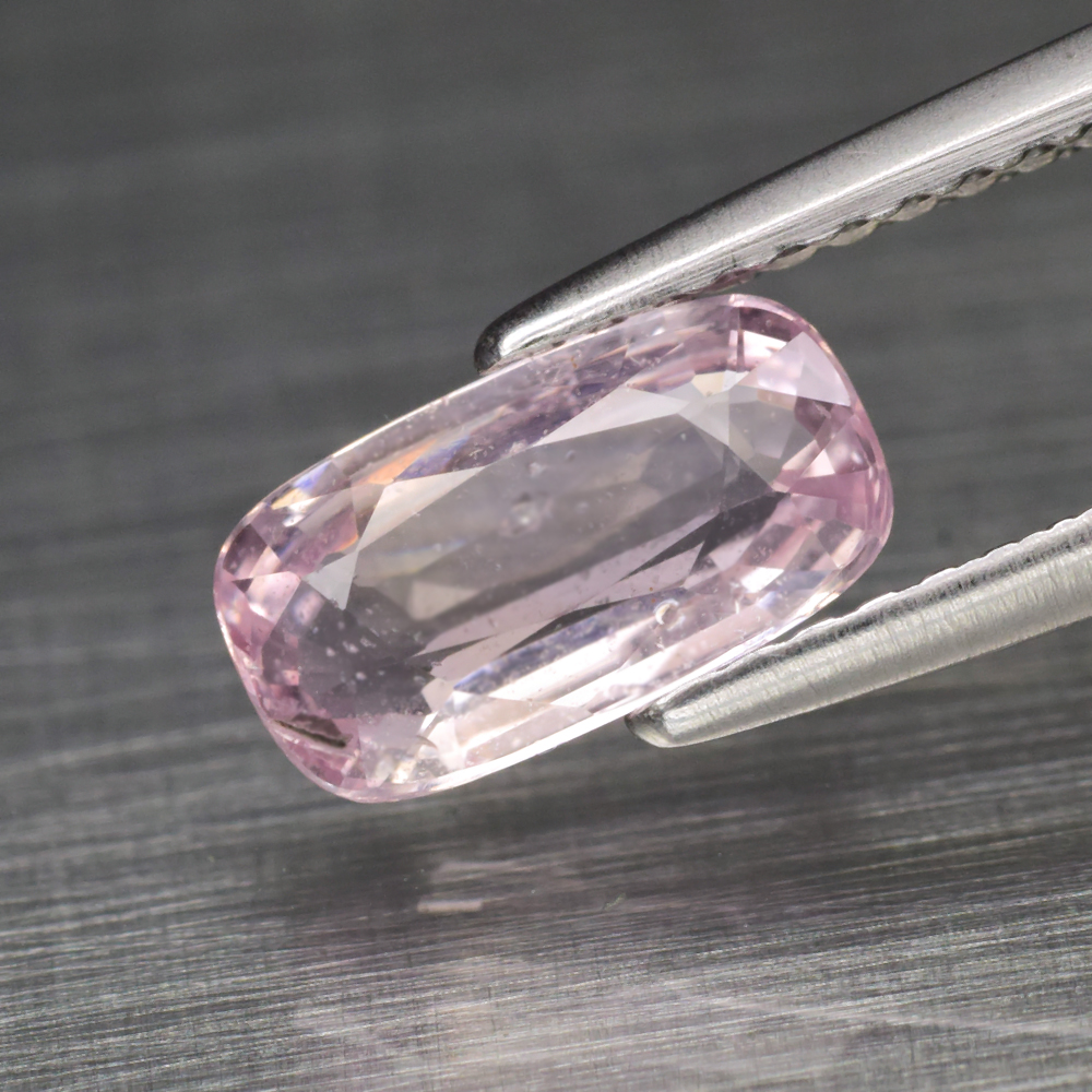 Genuine 100% Natural Pink Sapphire 1.37ct 8.7 x 4.8mm Cushion Cut SI1 Clarity