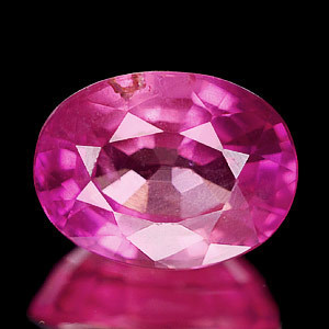 Genuine Pink Sapphire 1.41ct (Cert) 7.3 x 5.5mm VS1