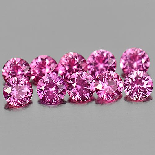 Genuine Pink Sapphire 0.15ct 3.2x3.2x2.0mm VVS Madagascar
