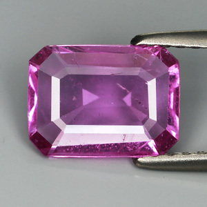 Genuine 100% Natural Pink Sapphire 1.62ct 8.9 x 6.6mm Octagon SI1 Clarity