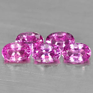 Genuine Pink Sapphire .63ct 6.1 x 4.2mm Oval VS1 Clarity