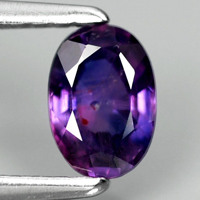 Genuine 100% Natural Purple Sapphire .63ct 5.8 x 4.0mm Oval SI1 Clarity
