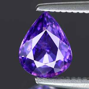Genuine 100% Natural PURPLE SAPPHIRE .98ct 6.9 x 5.6 x 3.1mm Pear (Certified)