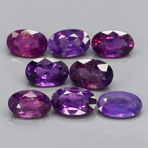 Genuine 100% Natural Purple Sapphires 0.27cts VS1 5x3mm Tanzania