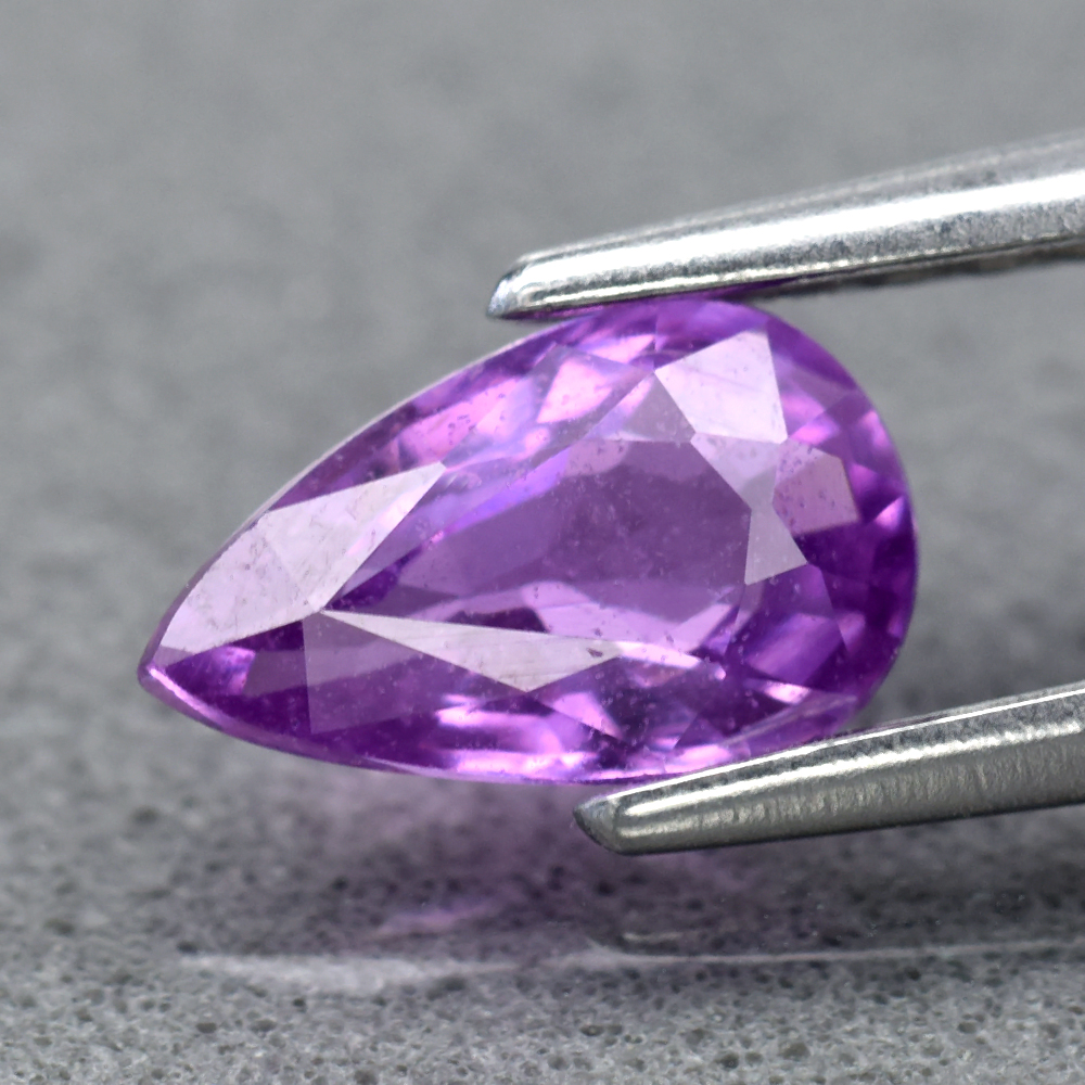 Genuine 100% Natural Purple Sapphire 0.61ct 6.8 x 4.0mm Pear SI1 Clarity