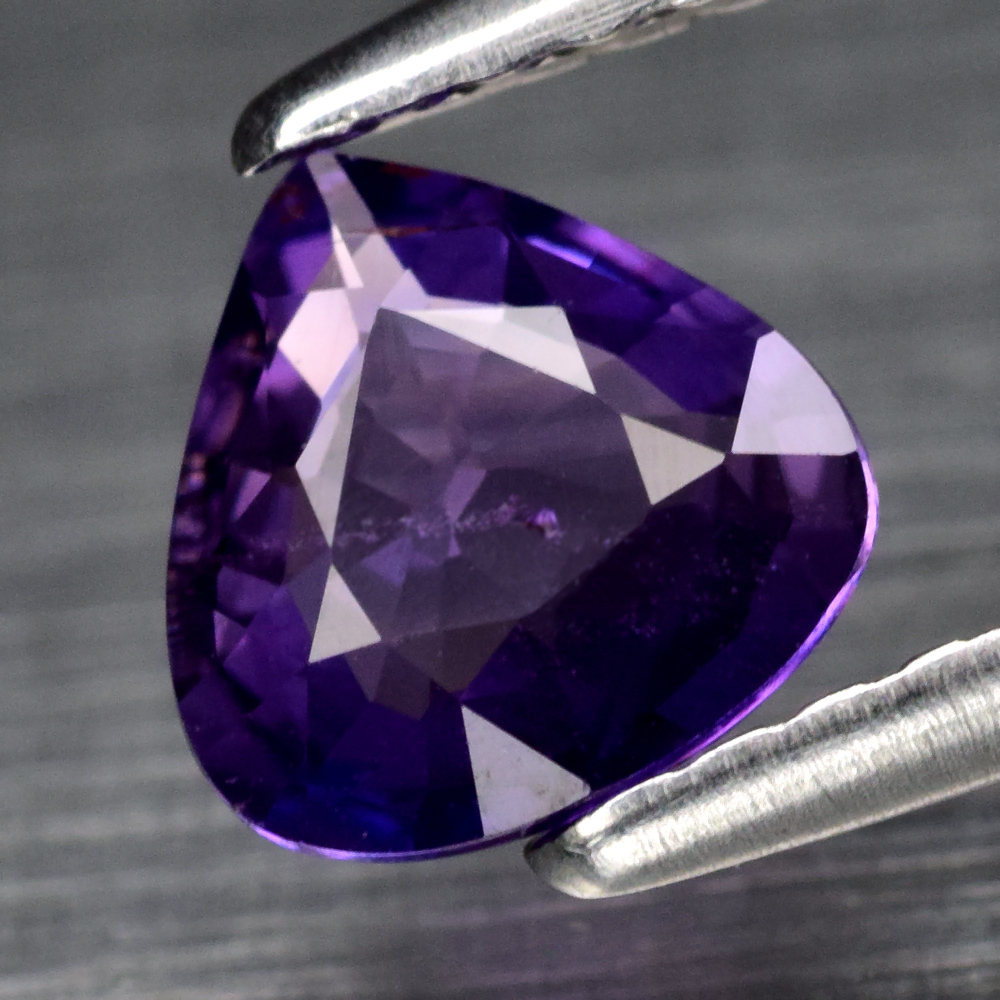 Genuine 100% Natural Purple Sapphire .63ct 5.8 x 5.8mm Pear SI1 Clarity
