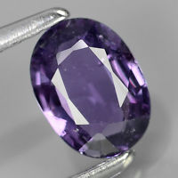 Genuine 100% Natural Purple Sapphire 0.64ct 6.11x4.51x2.28mm SI1 Thailand (Certified)