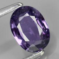 Genuine 100% Natural Purple Sapphire 0.64ct 6.11x4.51x2.28mm SI1 Thailand (Certified)