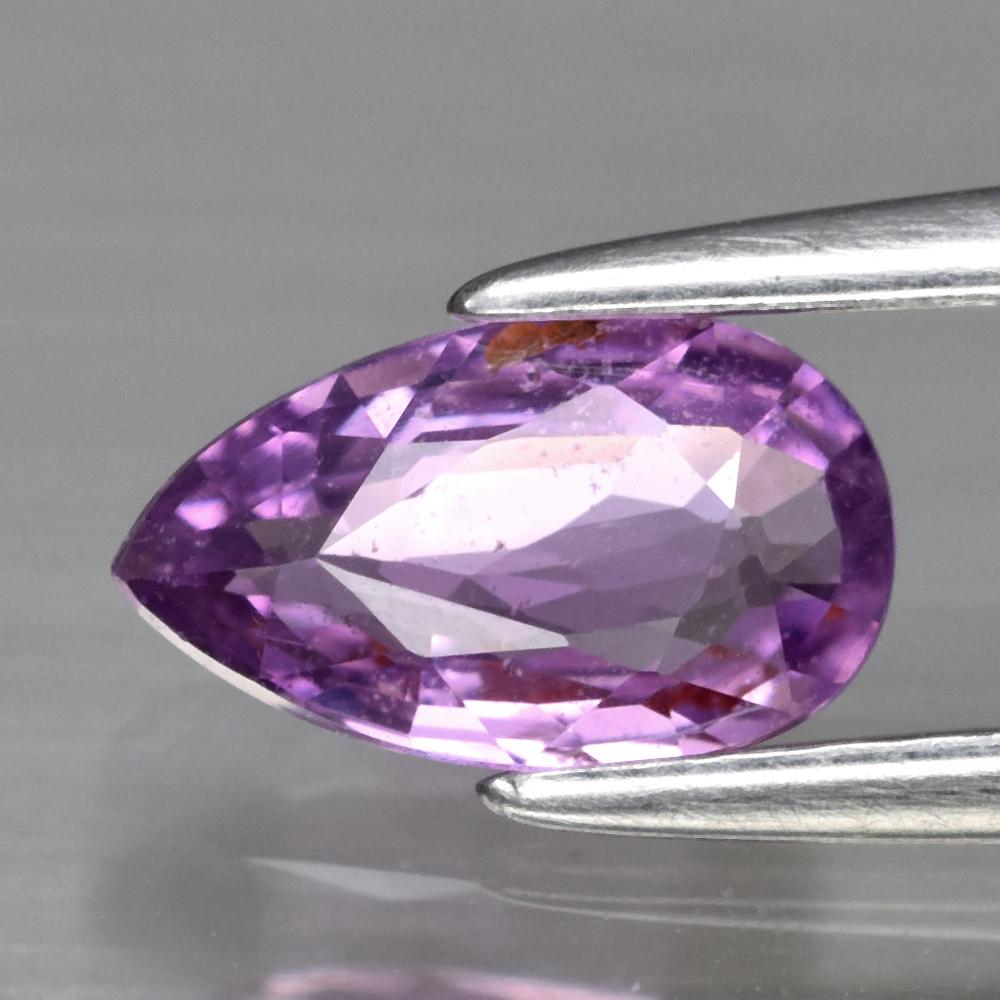 Genuine 100% Natural Purple Sapphire .65ct 7.3 x 4.3m Pear SI1 Clarity