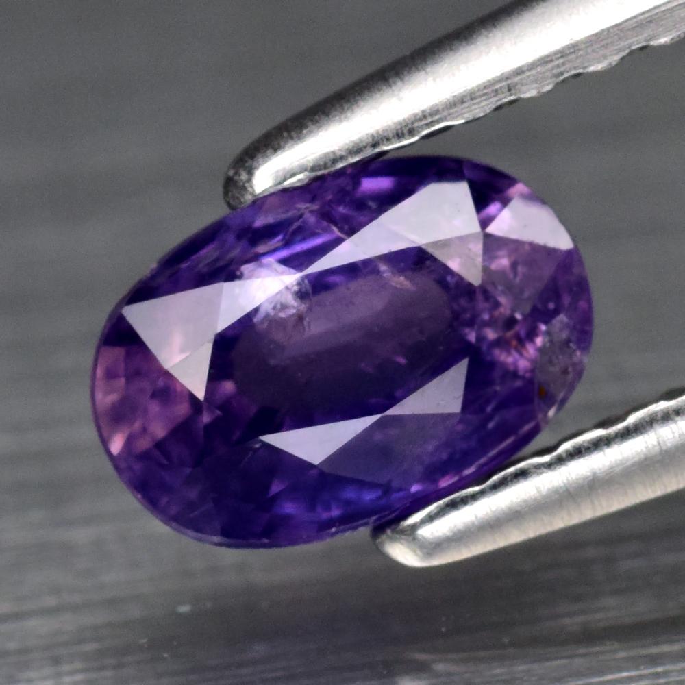 Genuine 100% Natural Purple Sapphire .69ct 6.0 x 4.0m Oval SI1 Clarity