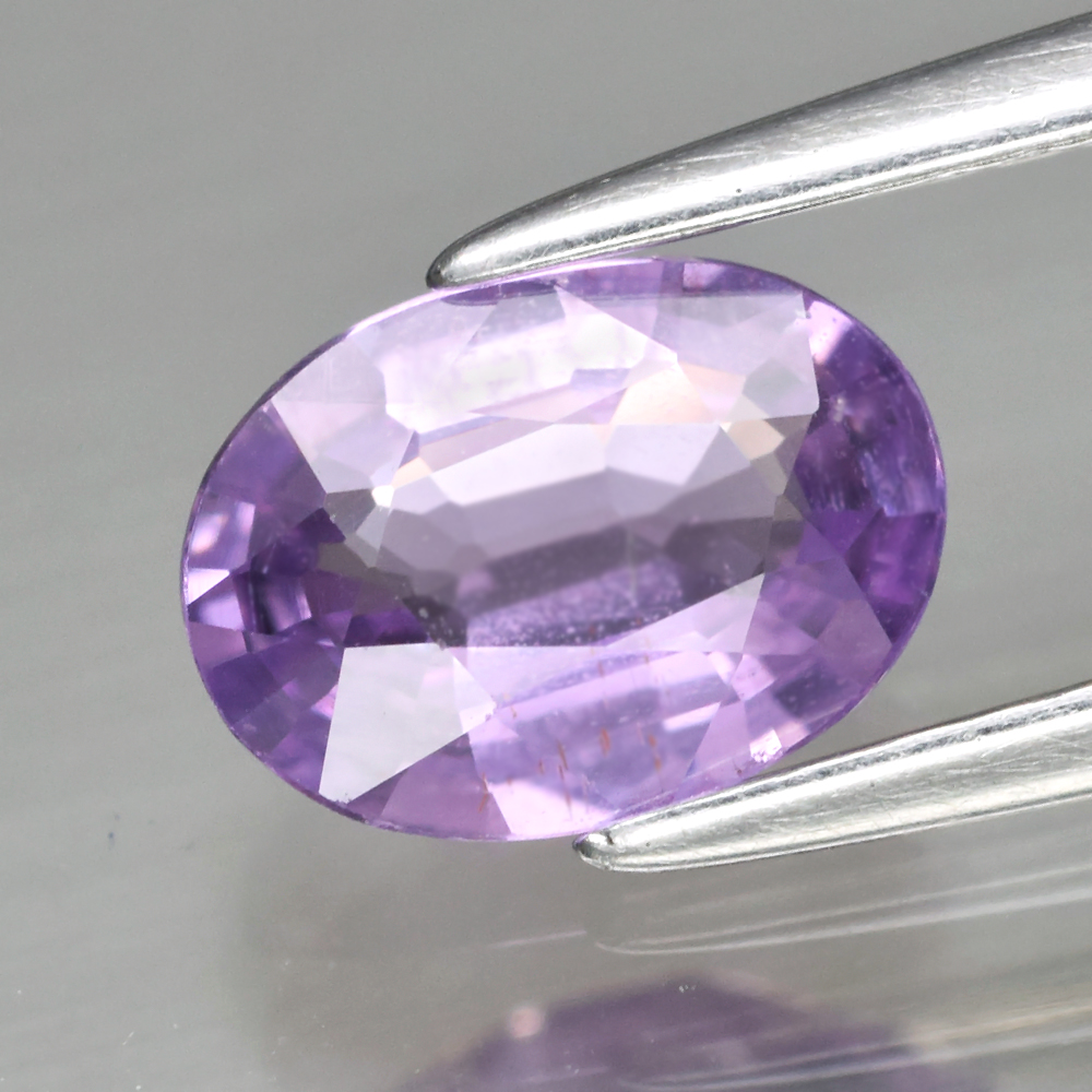 Genuine 100% Natural Purple Sapphire .86ct 7.3 x 5.3mm Oval SI1 Clarity