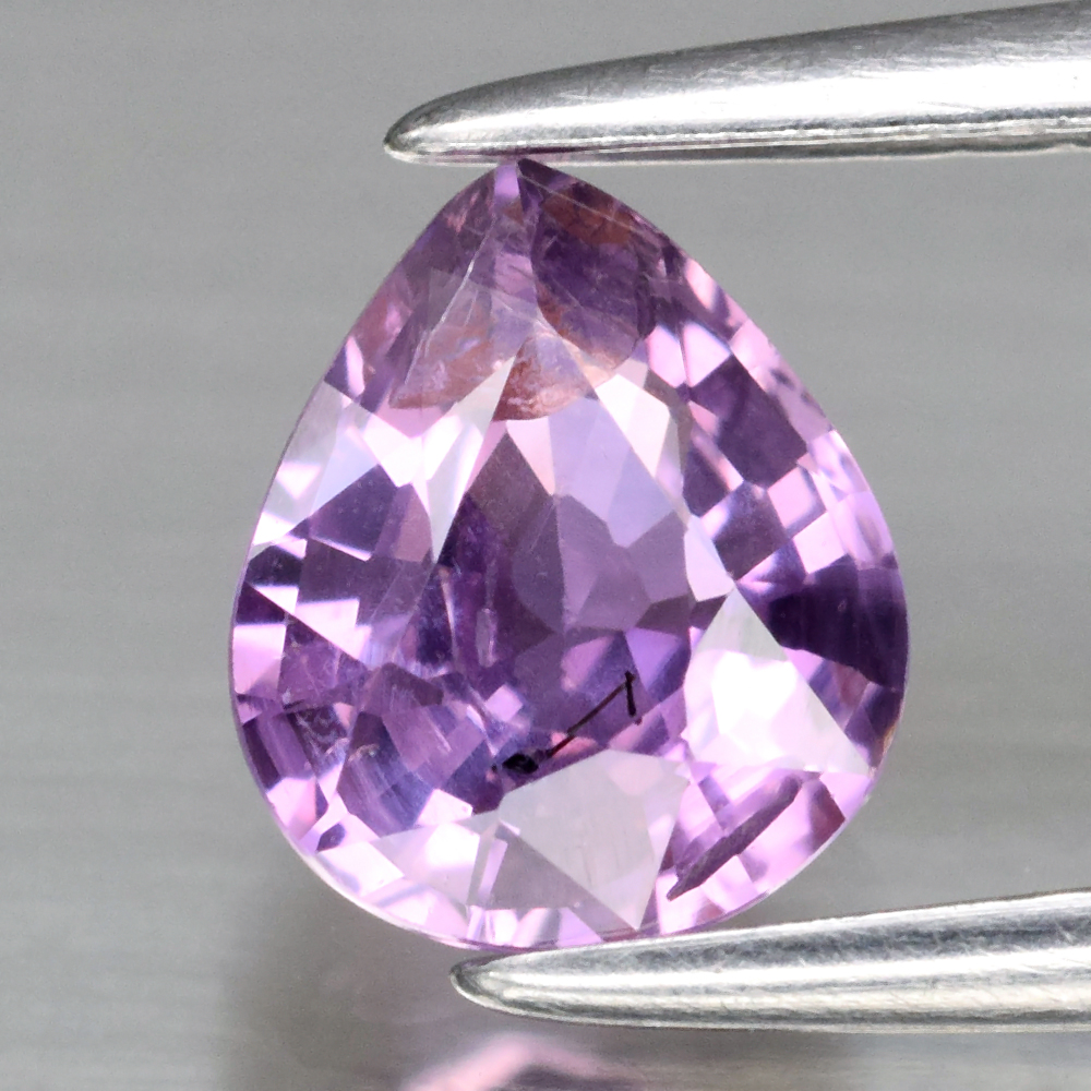 Genuine 100% Natural Purple Sapphire .87ct 6.4 x 5.4mm Pear SI1 Clarity
