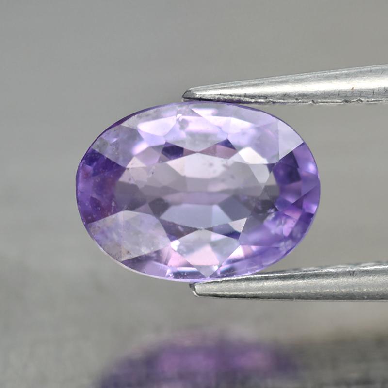 Genuine 100% Natural Purple Sapphire 0.88ct 6.8x5.0x2.7mm SI1 Madagascar