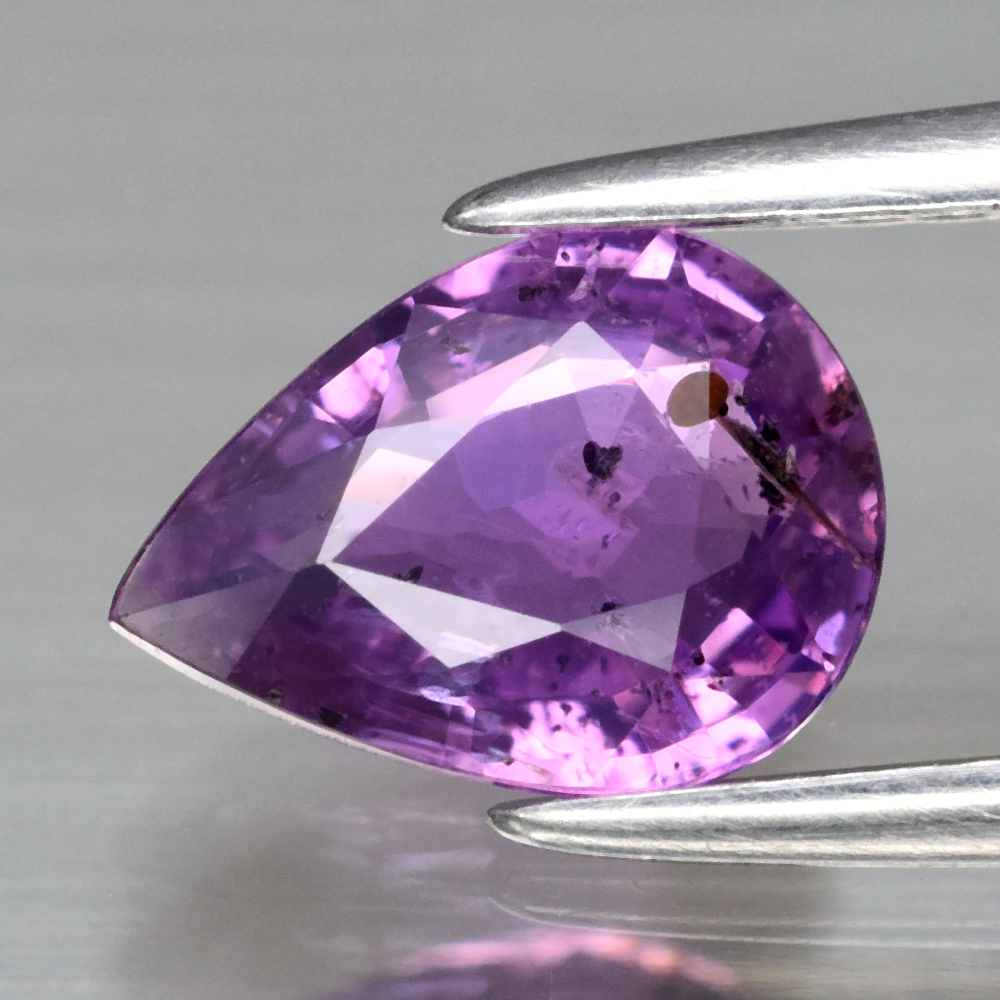 Genuine 100% Natural Purple Sapphire 1.01ct 7.8 x 5.7m Pear SI1 Clarity