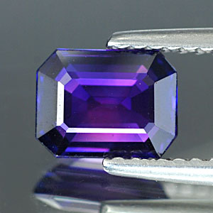 Genuine 100% Natural PURPLE SAPPHIRE 1.29ct 7.1 x 5.4 x 2.7mm Octagon (Certified)