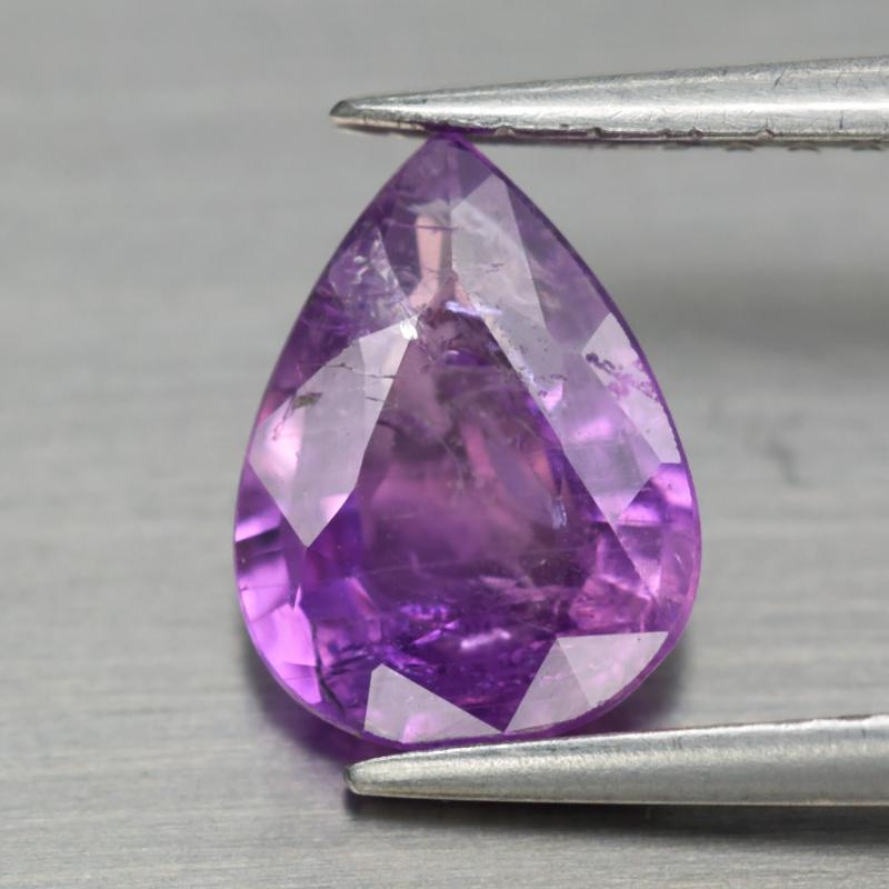Genuine 100% Natural Purple Sapphire 1.32ct 8.0 x 6.0mm Pear SI1 Clarity