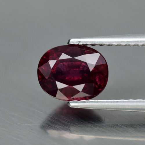 Genuine Red & Purple Sapphire 1.39ct 7.0 x 5.5mm SI1 Clarity